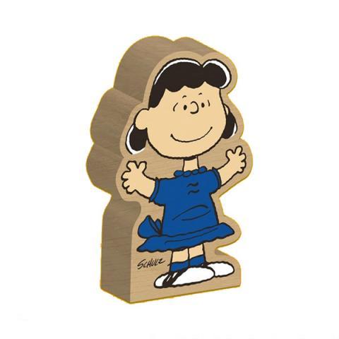 Lucy Van Pelt Peanuts wooden block figure
