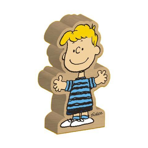 Shroeder Peanuts wooden block figure