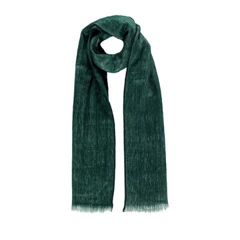 Moss dark green alpaca scarf