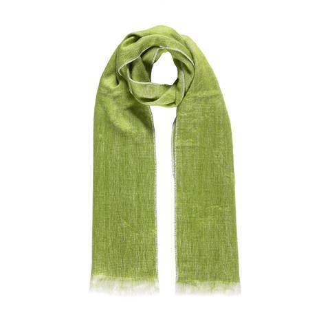 Lime green alpaca scarf