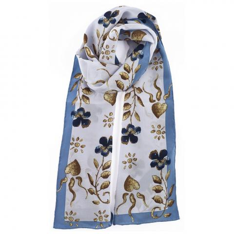 Erskine Light Blue George Jamesone Silk Scarf