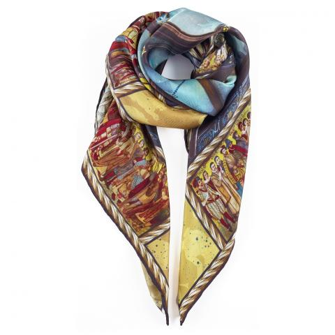 Scottish National Portrait Gallery ceiling silk scarf