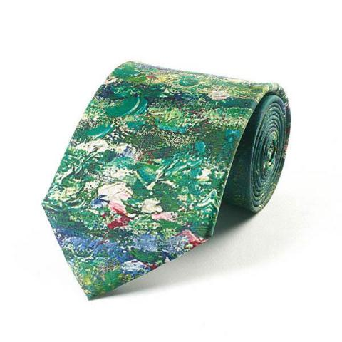 Pond at Giverney by Claude Monet silk tie