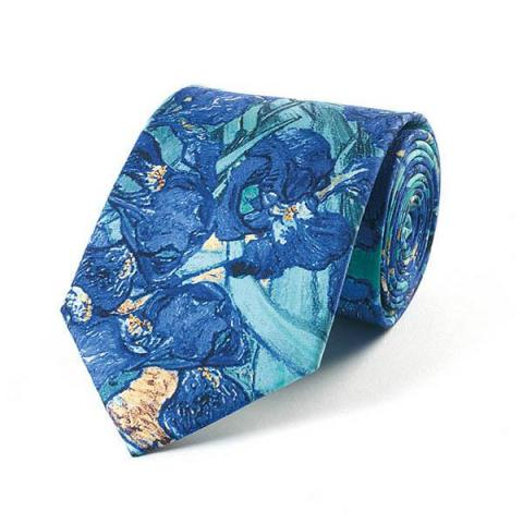 Irises by Vincent van Gogh silk tie