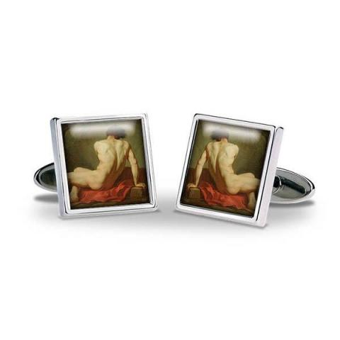 Patrocles by Jacques-Louis David Cufflinks