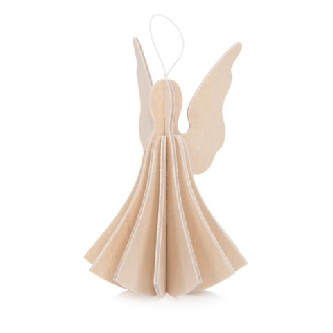 Natural wood angel wooden flat pack Christmas decoration kit (13cm)
