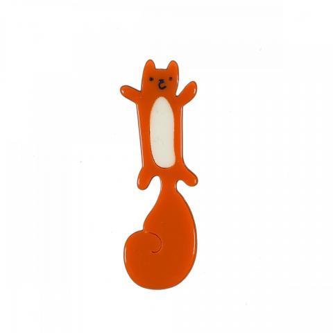 Red squirrel resin brooch