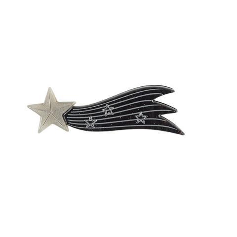 Black shooting star resin brooch