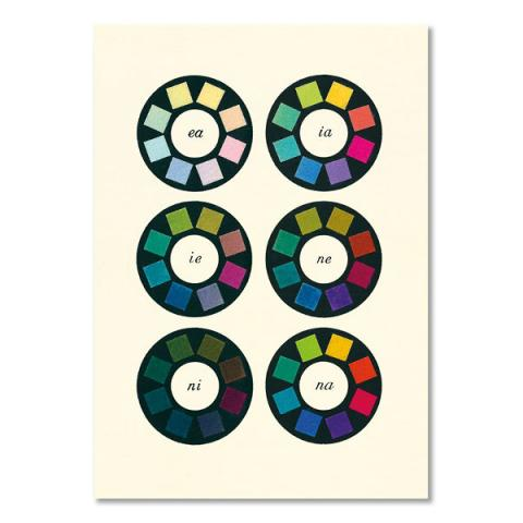 Colour wheels pattern book greeting card