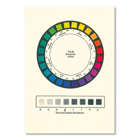 Standards of hue pattern book greeting card