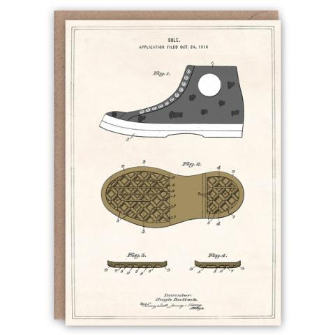 Rubber sole pattern book greeting card