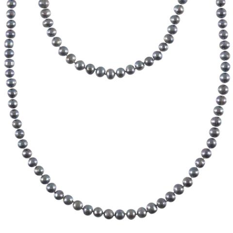 The Real Pearl Black Pearl Necklace