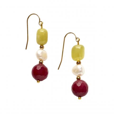 Exclusive Impressionist White Pearl Earrings