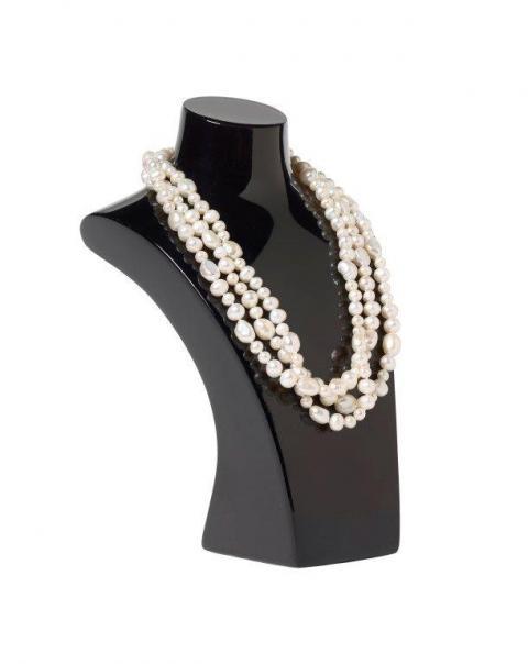 3-strand white baroque pearl necklace