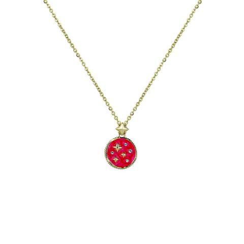 Swarovski crystal pink star pendant necklace