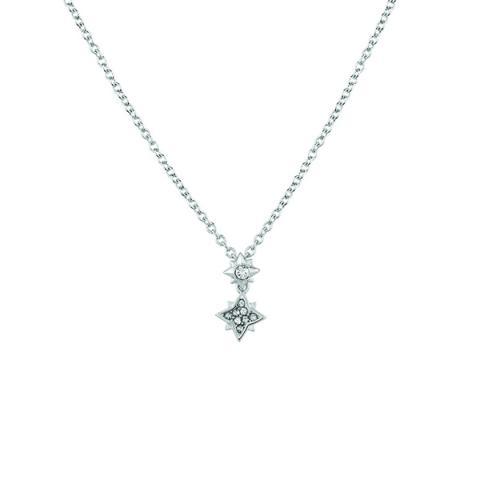 Swarovski clear crystal star pendant necklace