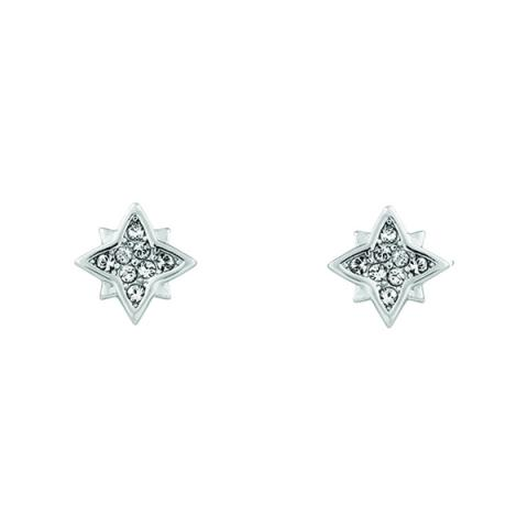 Swarovski clear crystal star earrings