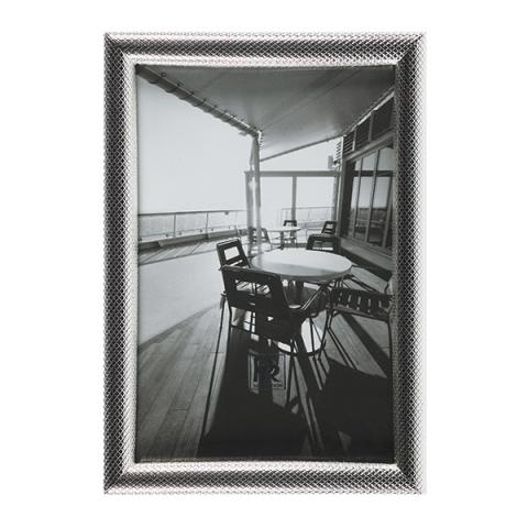 Silver plated decorative picture frame (12 x 17 cm)