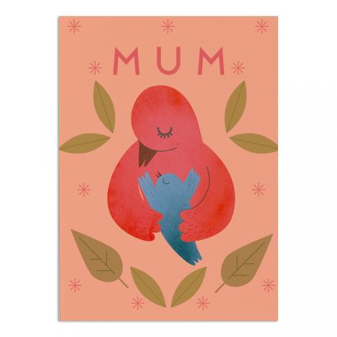 Mum bird greeting card