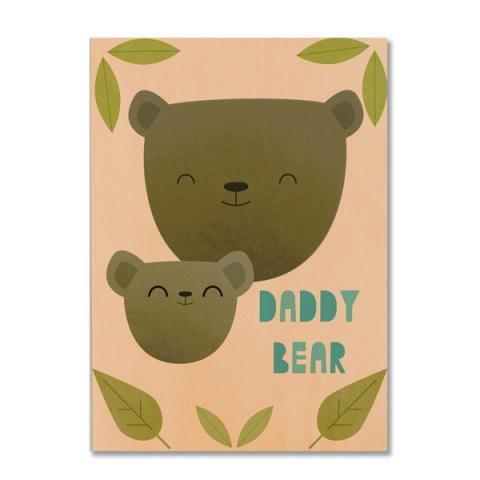 Daddy bear greeting card