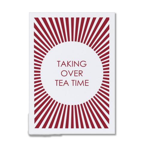 Taking over teatime greeting card