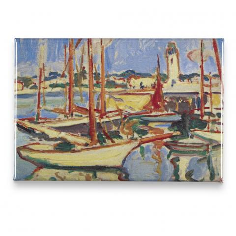 Boats at Royan by Samuel John Peploe magnet