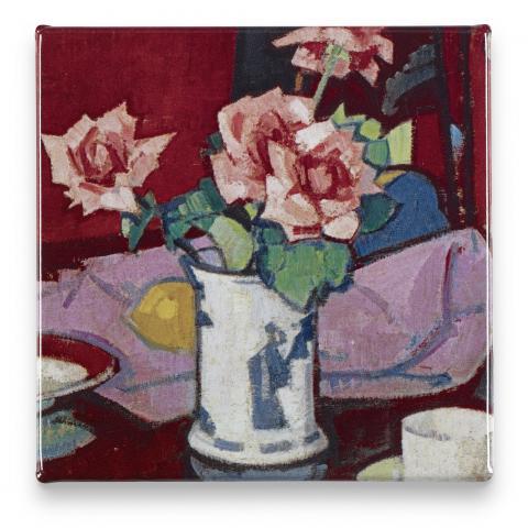 Pink Roses, Chinese Vase Samuel John Peploe Magnet