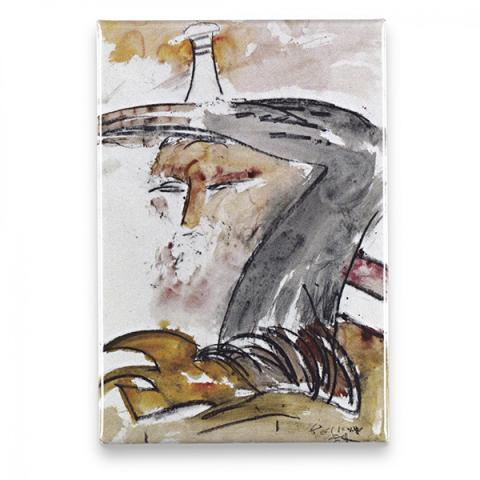 Self-Portrait with Lighthouse by John Bellany magnet