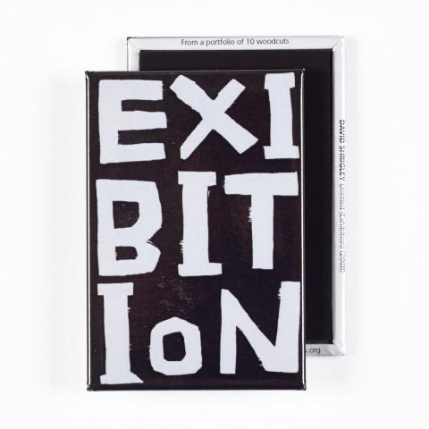Exibition by David Shrigley magnet