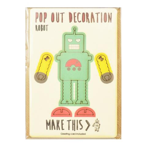 Robot Pop Out Greeting Card