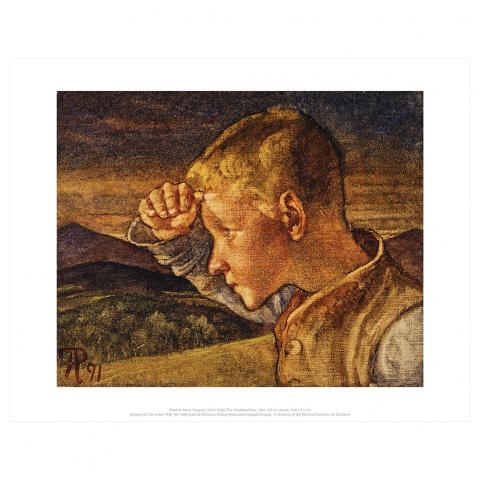 The Shepherd Boy Phoebe Anna Traquair Art Print
