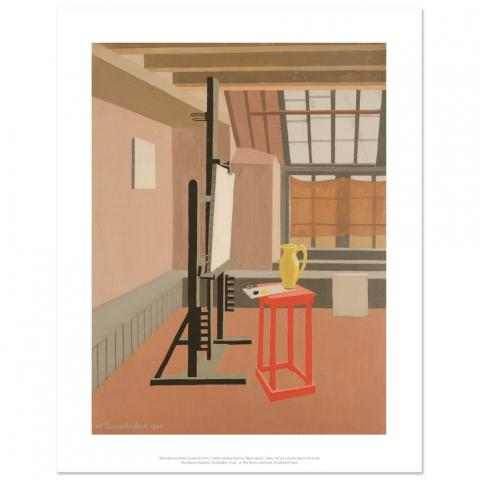 Studio Interior (Red Stool) Wilhelmina Barns-Graham Art Print