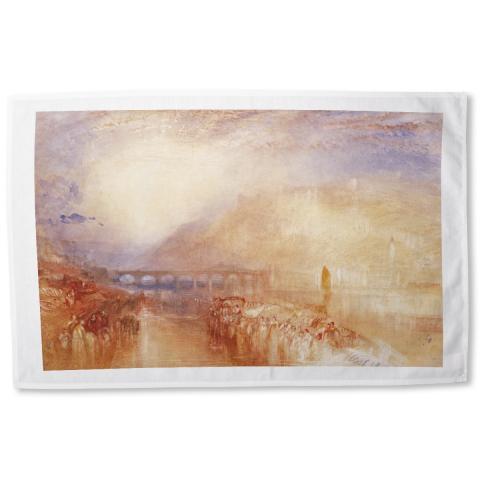 Heidelberg by Joseph Mallord William Turner tea towel