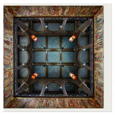 Scottish National Portrait Gallery Ceiling Greeting Card