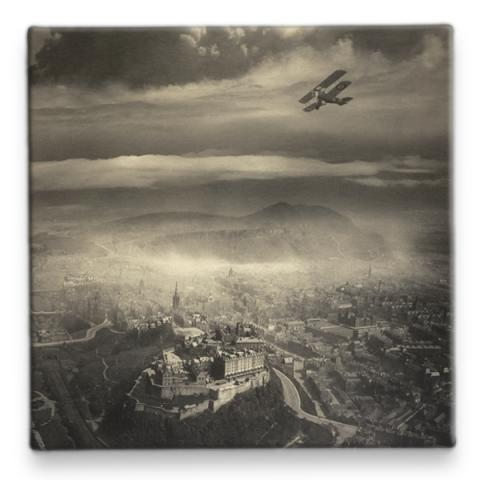 Aerial View of Edinburgh by Alfred G Buckham ceramic coaster