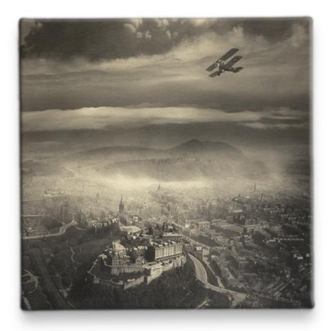 Aerial View of Edinburgh Alfred G Buckham Ceramic Coaster