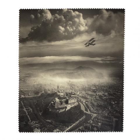 Aerial View of Edinburgh Alfred G Buckham Lens Cloth