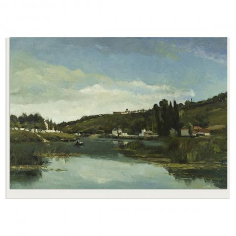The Marne at Chennevieres Camille Pissarro Greeting Card