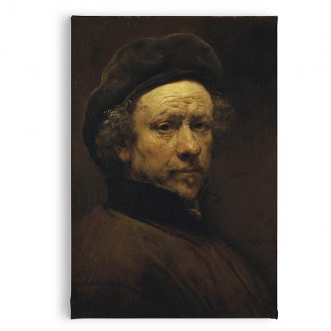 Self-Portrait aged 51 by Rembrandt magnet