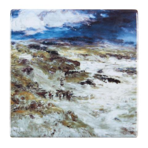 The Storm by William McTaggart ceramic coaster
