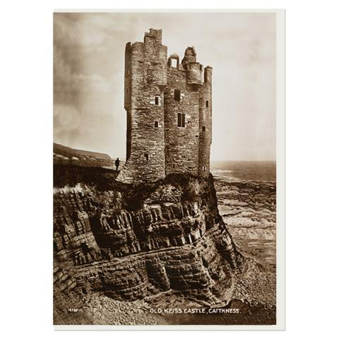 Old Keiss Castle, Caithness greeting card