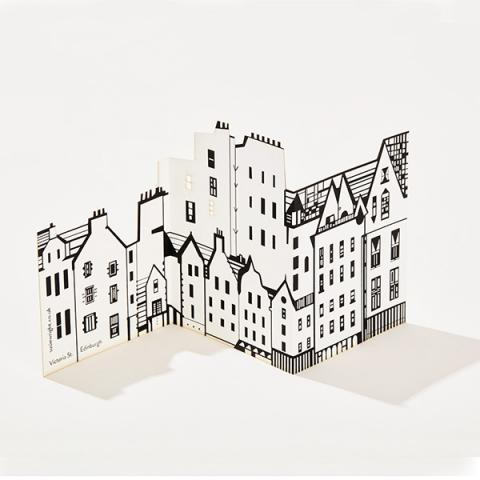Victoria street fold out greeting card
