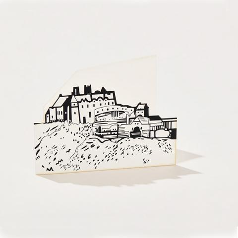Edinburgh Castle cut out greeting card