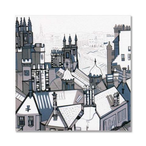 Obscura View, Edinburgh greeting card