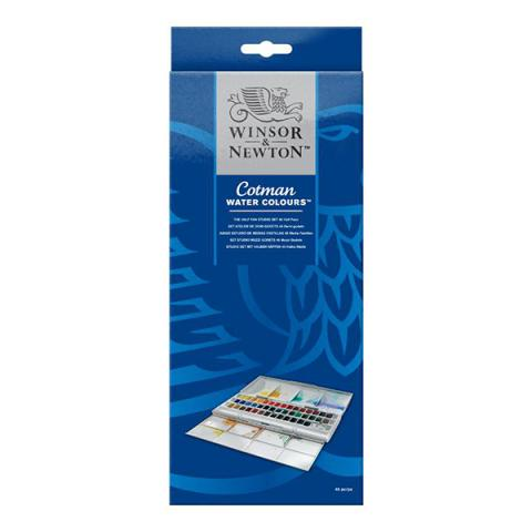 Cotman watercolours half pan studio set (40 colours)
