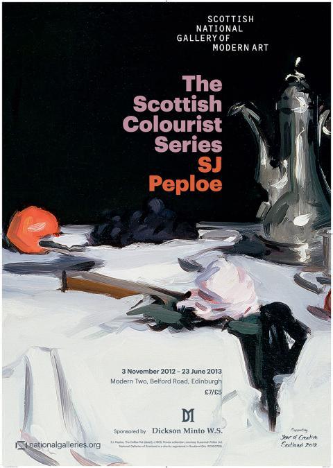The Scottish Colourists Series: Samuel John Peploe Exhibition Poster