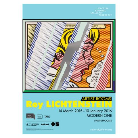 ARTIST ROOMS Roy Lichtenstein Exhibition Poster