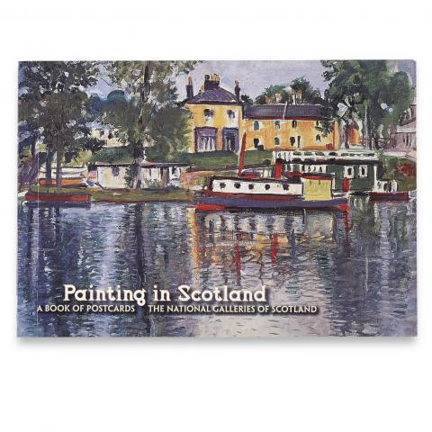 Painting in Scotland postcard book