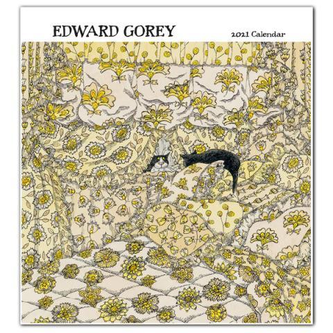Edward Gorey 2021 wall calendar