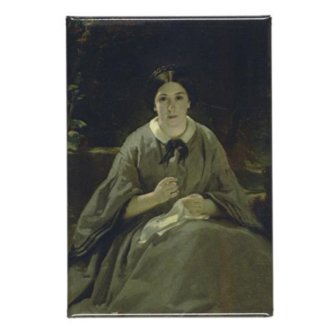 A Lady in Grey Sir Daniel Macnee Magnet